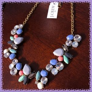 NWT J. Crew Colorful gemstone collage necklace